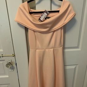 Brand New Off the shoulder peach dress